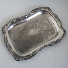 Decorating With Silver Trays Silverplated tray embossed with grape clusters by The Salvaged 54