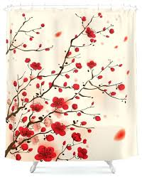 plum shower curtains. Plum Shower Curtains Oriental Blossom In Spring Curtain Purple Rose