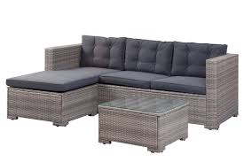 Henrie Outdoor Poly Rattan Patio 3 Piece Sectional Seating Group