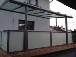 Terrassenüberdachung Mit Geländer Aus Alu Milchglas In 2019