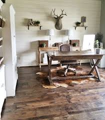 Rustic Office Design How To Install A Shiplap Wall Rustic Home Office Makeover Diy