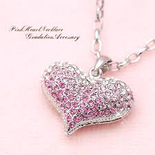 big puffy was hollowed heart necklace heart
