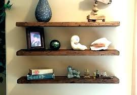 How To Make Solid Wood Floating Shelves New Terrific Floating Wood Shelves Floating Dark Brown Polished Wooden