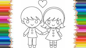 Little Boy And Girl Coloring Pages L Coloring Book Fun Videos For