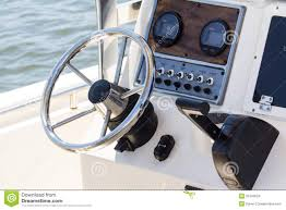 Image Stock Photo Of A 31343524 Ocean Chrome Motorboat - Cockpit