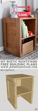 Wie Man Rustikale Möbel Baut Wohnzimmer Pinterest How To Build Diy Rustic Nightstand Free Building Plans By Jen Woodhouse Plans Rustic Nightstand Schubladen Und Möbel