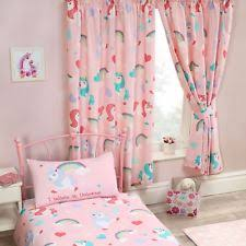 I BELIEVE IN UNICORNS PINK CURTAINS LINED 66