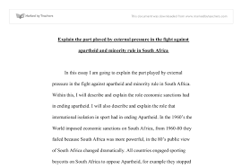 external pressure in south africa gcse history marked by document image preview