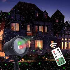 Laser Star Light Red Green Twinkle Star Christmas Laser Lights Projector With Remote Control Moving Red Green Star Like Lights Outdoor Led Landscape Spotlight For Holiday
