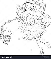 tooth fairy coloring pages printable image