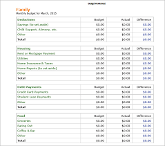 Budget Samples Household Create A Household Budget Template Personal Financial Budget Sheet