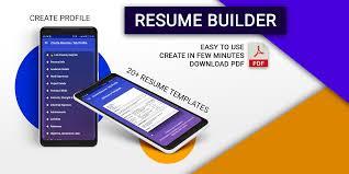 Resume Builder Pro 3 Min Free Cv Maker Templates Android Apps