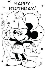Mickey Mouse Birthday Colouring Page Free Printable Coloring Pages ...
