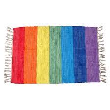 Beautiful rainbow rug colorful carpet hand-knitted cloth mats carpet mats  doormat kitchen mats Toilet