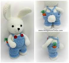 Free Crochet Bunny Pattern Delectable Overalls For Dress Me Bunny Boy Clothes Amigurumi To Go
