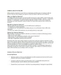 Resume Objective General Unique Career Objectives Resume Examples Administrativelawjudge