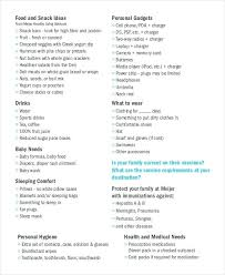 Holiday Checklist Template Via Travel Packing List Summer ...