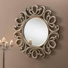 antique silver swirl ornate wall mirror