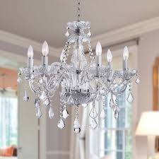 creative of lighting crystal chandeliers modern crystal chandelier with 6 lights roselawnlutheran