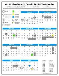 Image Of 2020 Calendar 2019 2020 Calendar Grand Island Central Catholic