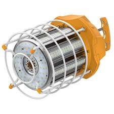 Led Temp Construction Lights Led Work Light W Cage Linkable Double End Plug Gold Series 10 500 Lumen 100 Watt 120 277 Volt 5000k Crisp Daylight