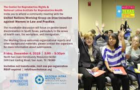 learn more about our roundtable discussion in the rio grande valley with the un working group on discrimination against women in law and practice