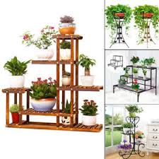 garden shelves. Image Is Loading 12-Designs-Flower-Pot-Plant-Stand-Planter-Rack- Garden Shelves