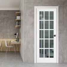 white doors with glass. Perfect Doors SA 15 Pane Door  Clear Glass White Primed Throughout Doors With