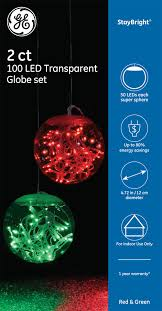 Super Sphere Lights 99341 Ge Staybright Led Transparent Globe Set 2 Super