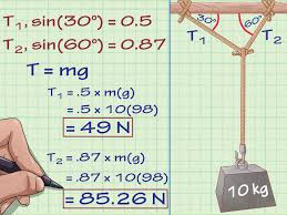 Physics Tension Problems How To Calculate Tension In Physics 8 Steps With Pictures
