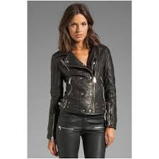 biker women s leather jacket from calvin klein
