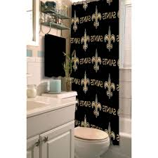 home design nfl new orleans saints decorative bath collection shower curtain within star wars bathroom