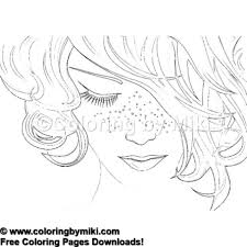 Beautiful Woman Portrait Coloring Page 1281 Coloring By Miki
