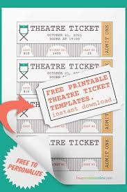 Play Ticket Template Printable Ticket Template Football Play Template Printable Blank