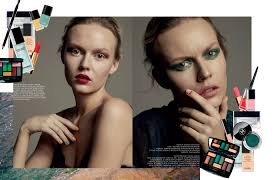 Simona Antonović Bella Napoli Chanel Beauty Editorial For Grade