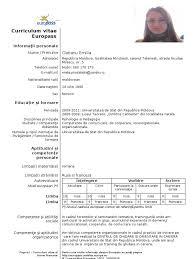 Generous Curriculum Vitae European Format Doc Ideas Example Resume