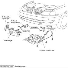 toyota corolla fwd where are the impact sensors for the
