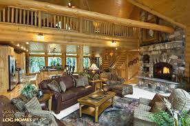 interior design log homes. Golden Eagle Log Homes - Lakehouse 3352AL Great Room / Dining Area Interior Design
