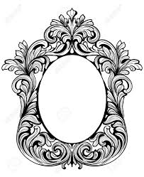 mirror frame drawing. Simple Drawing 1060x1300 Fabulous Baroque Mirror Frame Set Vector French Luxury Rich Inside Drawing 2
