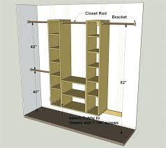 standard closet shelf depth closet rod depth from wall standard
