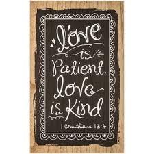 love is patient chalkboard wall art