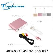 high quality newest for lightning to digital av hdmi hdtv vga av