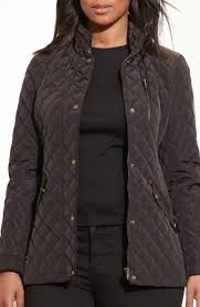 Women's Plus-Size Coats & Jackets | Nordstrom & Lauren Ralph Lauren Quilted Jacket with Faux Leather Trim (Plus Size) Adamdwight.com