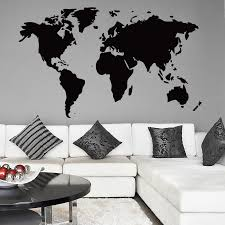 office wall stickers. The World Map Wall Sticker Office Stickers D