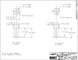 installing solid motor mounts in a v max diagram of solid mount parameters for construction