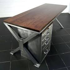 industrial office furniture. Vintage Office Desks. Industrial Furniture A Thing Of Beauty Handmade Polished Metal Walnut