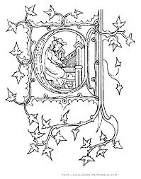 Illuminated Alphabet Coloring Pages At Getdrawingscom Free For