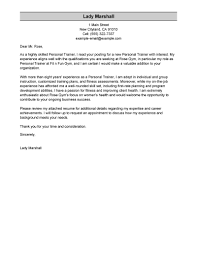 Personal Trainer Cover Letter Sample Personal Cover Letter Personal