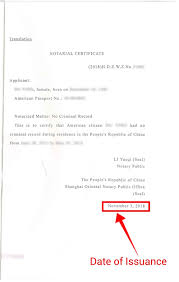Clearance Certificate Sample The Validity Of China Police Clearance Certificates For