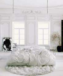 Home Designs: Parisian Apartment Soft White Bedroom With Black Accents And  Potted Tree2 - Parisian